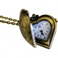Steampunk Pendant - Heart Clock