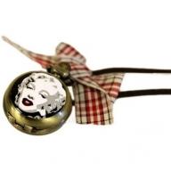 Enamel Marilyn Steampunk Watch Pendant