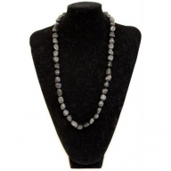 Rock & Roll Necklace - Black Agate