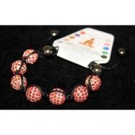 Shambhala 7 Ruby Beads 14mm