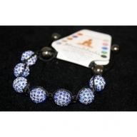 Shambhala 7 Sapphire Beads 14mm