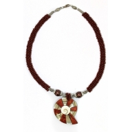 Shell Necklace - Red