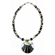 Shell Necklace - Zebra Stripe