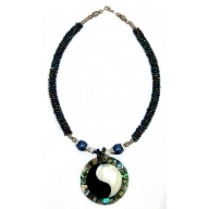 Shell Necklace - Ying Yang Paua