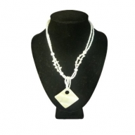 Shell Necklace - Lrg Square & Hole