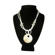 Shell Necklace - Lrg Round & Hole