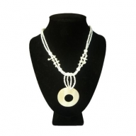 Shell Necklace - Lrg Round & Lrg Hole