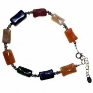 Mix Stone & Silver Bracelet