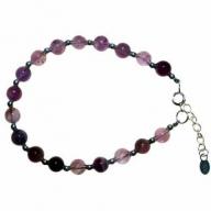 Amethyst & Silver Bracelet