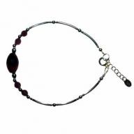 Classic Amethyst & Silver Bracelet