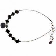 Black Stone & Silver Bracelet