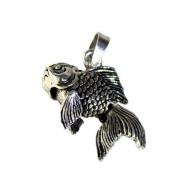 Silver Goldfish Pendant