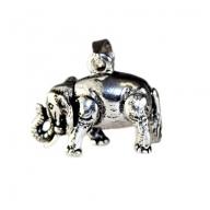 Silver Large Elephant Pendant