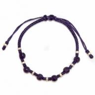 Purp Waxed Amethyst & Silver Bracelet D1