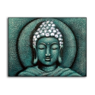 Sun Buddha Green - Painting