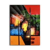Abstract Buddha Orange - Long Painting