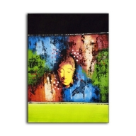 Abstract Buddha Green - Long Painting