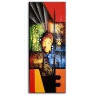 Abstract Buddha Orange - Tall Painting