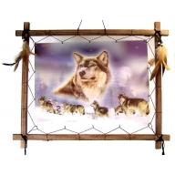 Dreamcatcher 3D Pic - 7 Wolves