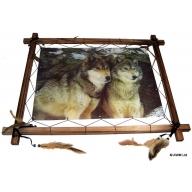 Dreamcatcher 3D Pic - 2 Wolves