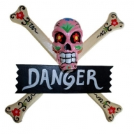 Skulls Warning Sign - DANGER