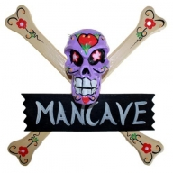 Skulls Warning Sign - MAN CAVE