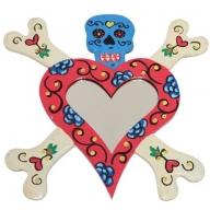 Floral Skull Heart Mirror