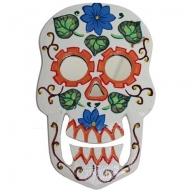 Floral Skull Mirror Eyes
