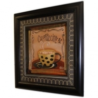 Hand Painted Relief Art - Cappuccino
