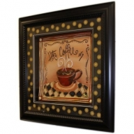 Hand Painted Relief Art - Hot Coffee