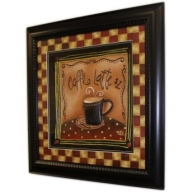 Hand Painted Relief Art - Café Latte