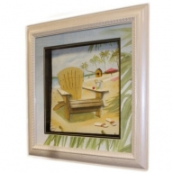 Hand Painted Relief Art - Beach Chair