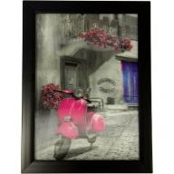 Iconic 3D 25x35cm - Pink Vespa