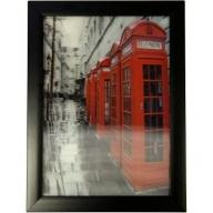 Iconic 3D 25x35cm - London Phone Boxes