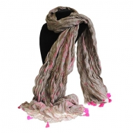 Antique Tasseled Scarf - Rose