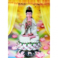 Lrg High Def 3D Pic - Lotus Buddha