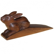 Handcarved Wooden Door-Stop - Rabbit