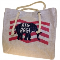 Big Jute Elephant Bag - Red