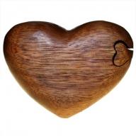 Bali Puzzle Box - Single Heart