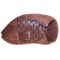 Bali Puzzle Box - Fish Carp