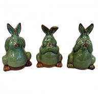 Bunny Money Boxes Set of Three - Teal