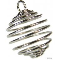 Silver Metal-Plated 25mm x 25mm Spiral Cage