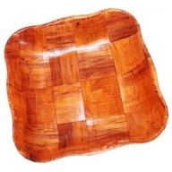 Lrg Cottonwood Wawy Sq Basket - 25cm