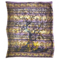 Cadi Cotton Bedspread / Wall Art - Tree of Life - Lavender