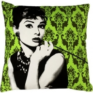 Designer Cushion - Audrey on Green