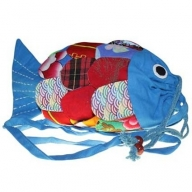 Recycled Handmade Fish Bags - Blue