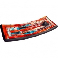 Mosaic Incense Plate - Blue&Red