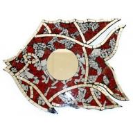 Fish Mirror - Red / White