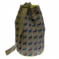 Jute Duffle Bag - Stag