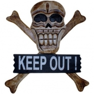 Skull & Bones Sign - Keep Out